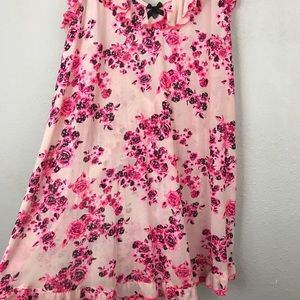 Betsey Johnson Intimates & Sleepwear - Betsey Johnson Pink Floral Chemise Night Gown Sz M
